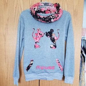Minnie and Mickey Mouse cute floral Disney sweater